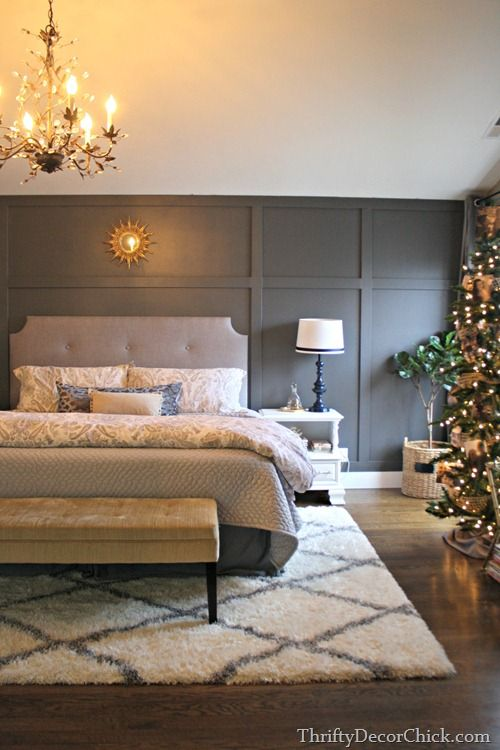 From our home to yours love the idea of a xmas tree in for Rug in bedroom