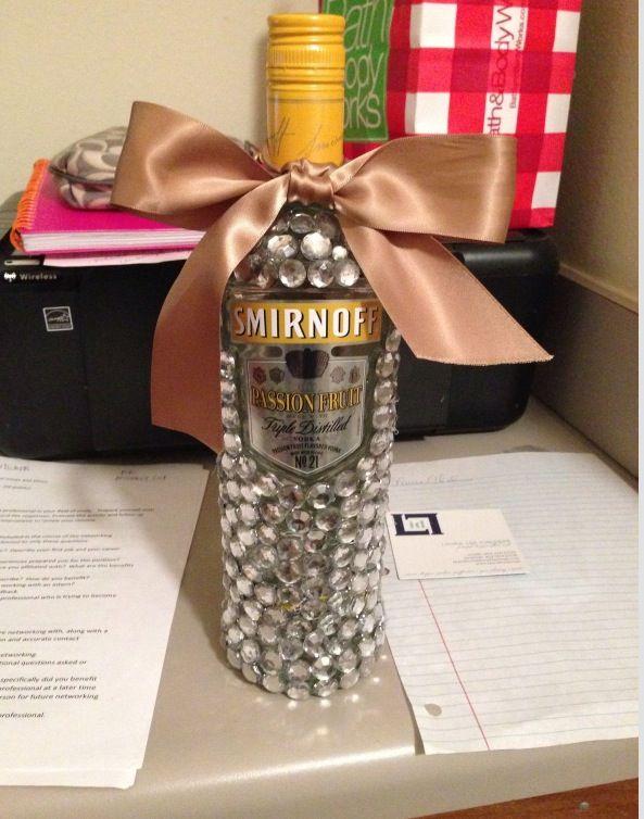 Bedazzled Smirnoff 21st birthday present