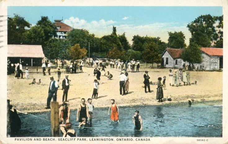 Pavilion And Beach, Seacliff Park, Leamington, Ontario, Canada