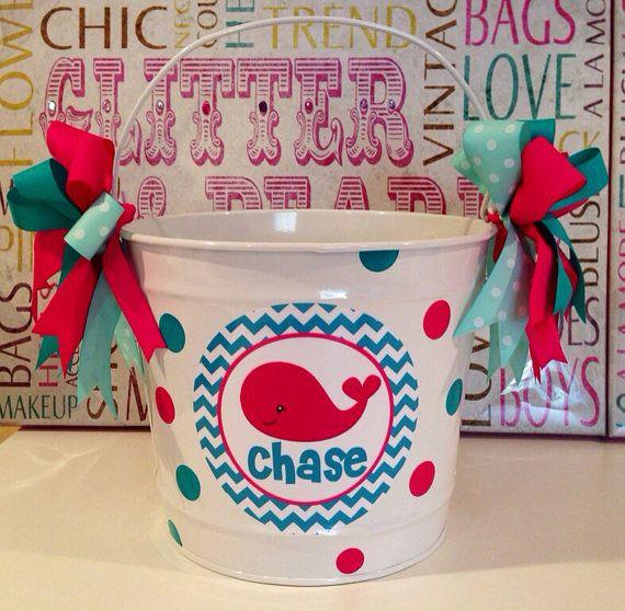 87 best easter basket ideas images on pinterest easter baskets easter bucket preppy whale personalized10 quart easter basket ideaseaster negle Images