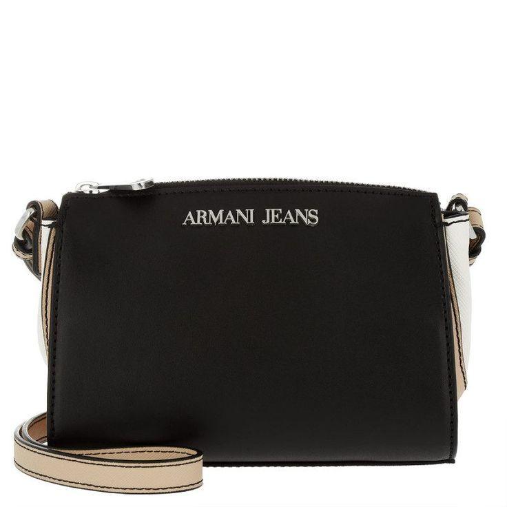 Armani Jeans Armani Jeans Tasche – Synthetic Leather Crossbody Bag Nero/Beige/Bianco – in beige, weiß, schwarz – Umhängetasche für Damen