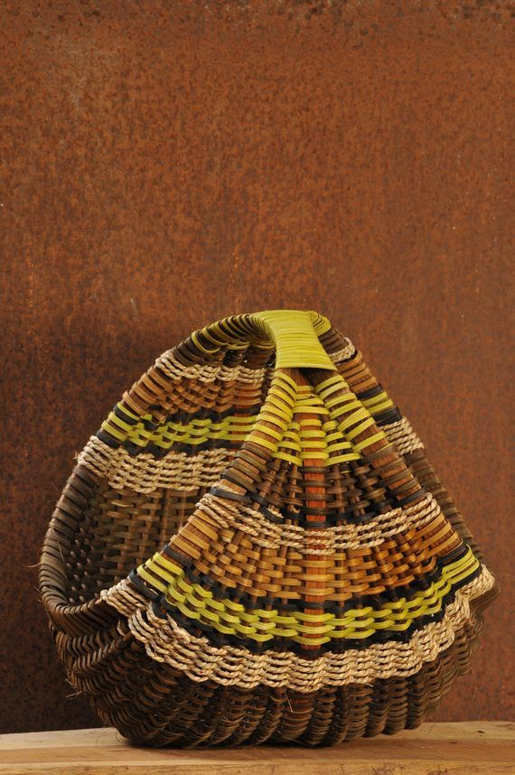 Hen basket medium size Gathering Basket Hand made by WeavingArt