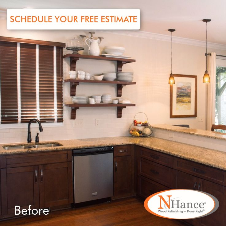Give your cabinets a complete makeover using the existing cabinets boxes, adding new doors, and finish with one of N-Hance's custom color options.