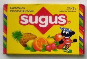 Primeras cajas de caramelos SUGUS.