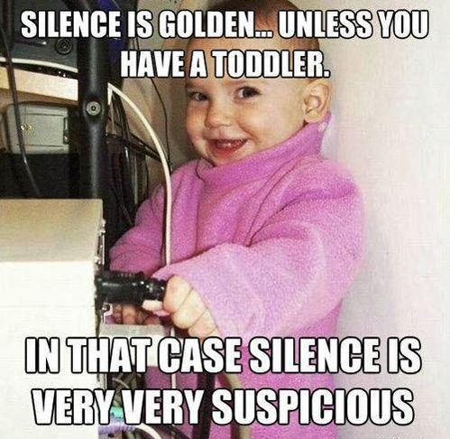 silence is suspiciousNew Mommy, Parents, Baby Wear, Funny, Children, So True, Kids, Toddlers, True Stories