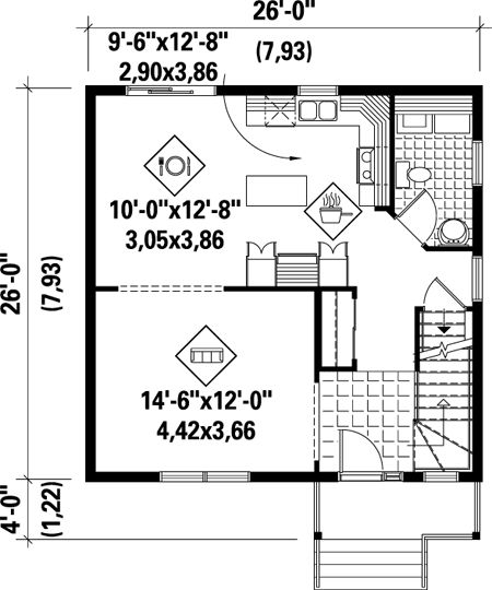 107 best garage apartment house plans images on pinterest for Garage apartment plans with kitchen