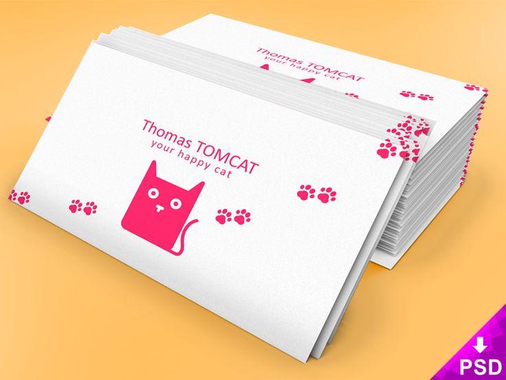 Business Card Stack Mock-up