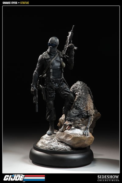Sideshow Collectibles G I Joe Snake Eyes and Timber Polystone Statue New | eBay