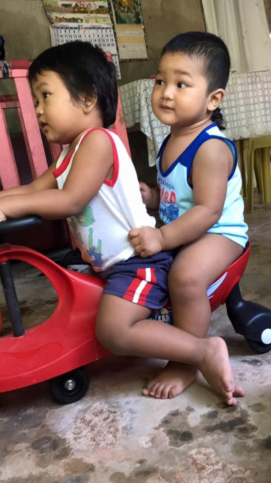 Lucas 27th month Marcus 15 month