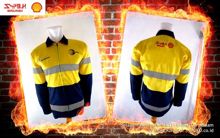 Baju Wearpack SHELL [Brunei Darussalam] by @mokokonveksi  Baju Wearpack termasuk dalam kategori baju safety yang digunakan untuk menunjang keselamatan kerja. Contohnya pada industri manufaktur, pertambangan, kelistrikan, pengolahan energi dan minyak bumi, kontraktor bangunan dan lain sebagainya yang sebagian besar pekerjanya diharuskan memakai baju safety saat bekerja.
