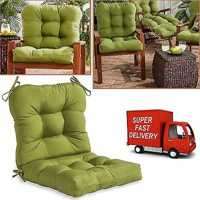 Replacement Patio Cushions Furniture Seat Back Garden Outdoor Chair Pillow Pad