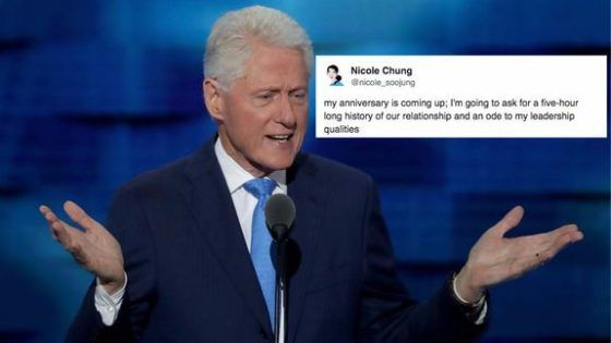 Bill Clinton's very detailed relationship anecdote is ruining love for a lot of people