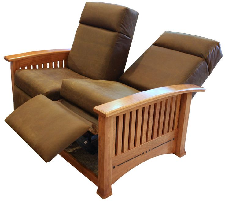 Modern Mission Double Recliner Loveseat   Ohio Hardwood Furniture