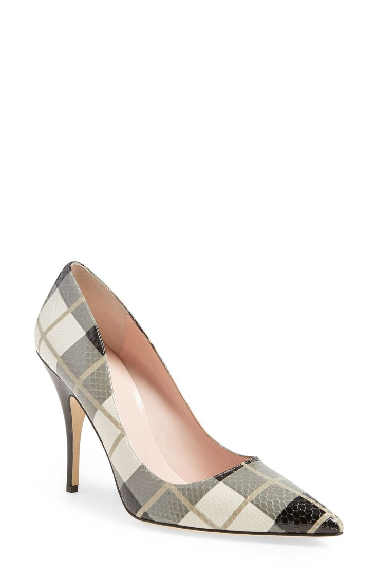 Kate Spade Licorice Too Check-Print Pumps gray - Lyst