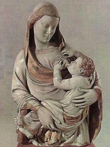 Mary, Mother of God, Queen of Heaven, Star of the Sea etc. etc. with the Child Saviour Jesus 'Virgin and Child'Nino Pisano, 1365 A.D. Maria del Spina, Pisa