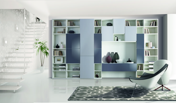 The Giornopergiorno bookcases propose themselves as essential elements in the home environment, presenting themselves in a precise, but at the same time, simple style, maximizing the volumes of elements for a meticulous and functional organization of spaces.