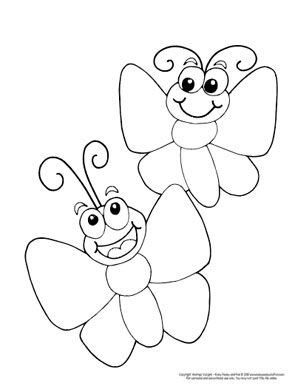 Sudut Color Cartoon Butterfly Coloring Pages