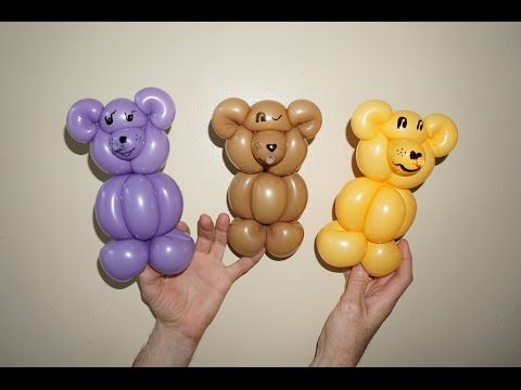 Balloon animals twisting instructions: How to make teddy bear from balloon