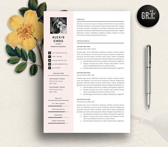 25+ parasta ideaa Pinterestissä Resume format for freshers - active resume words