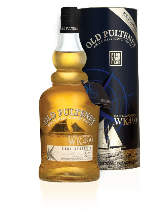 Old Pulteney WK499 is named after the last remaining herring fishing boat - The Isabella Fortuna. WK499 was launched in 1890 and sailed around the N.E. coast for 86 years. This whisky is matured in old bourbon casks.