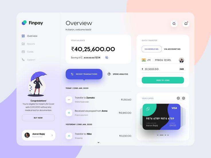 Finpay Dashboard UI   Banking