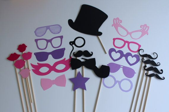 Purple Majesty  DIY Photo Booth Prop Kit by TOASTEDProps on Etsy, $27.00