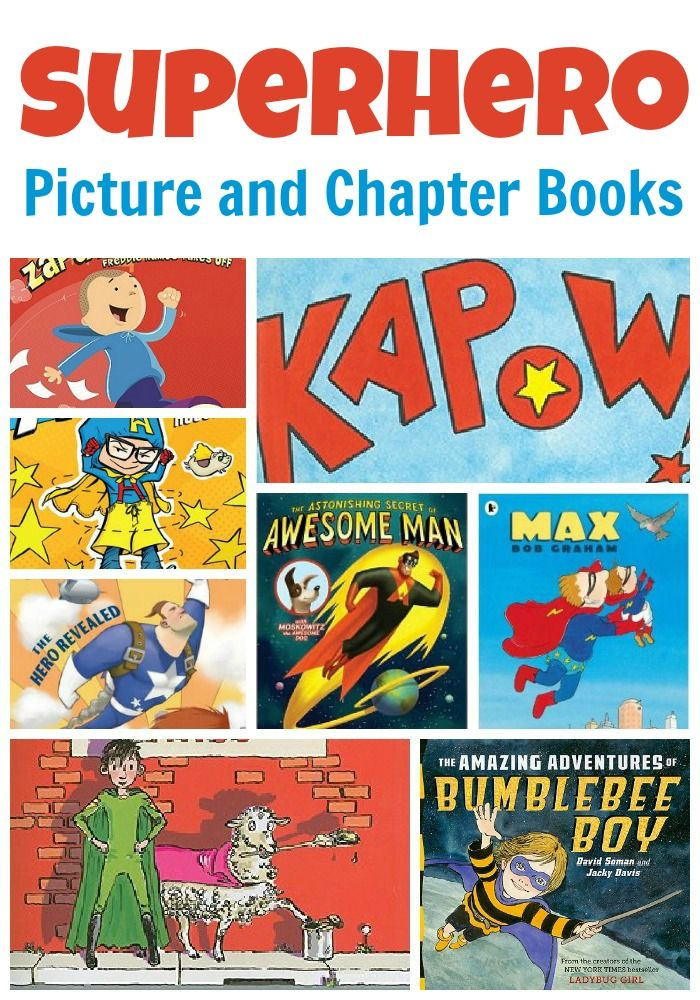 Do your kids love superheros? Spark their interest in reading with one of these books -- suggestions cover a variety of age levels.