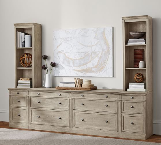 """Livingston Office Suite DIMENSIONS Overall: 105"""" wide x 21.75"""" deep x 80.75"""" high"""