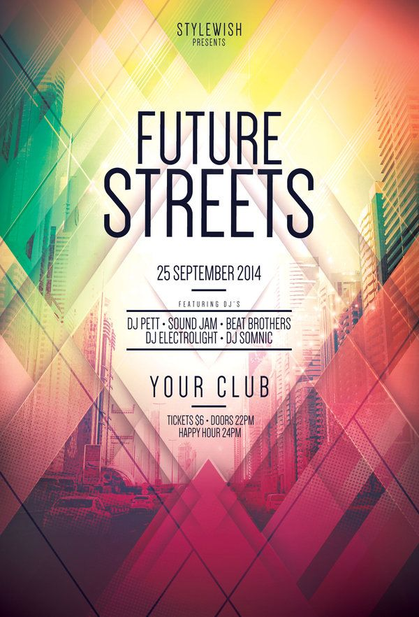 Future Streets Flyer By StyleWish (Buy PSD File   $9) · Poster Design  InspirationEvent ...