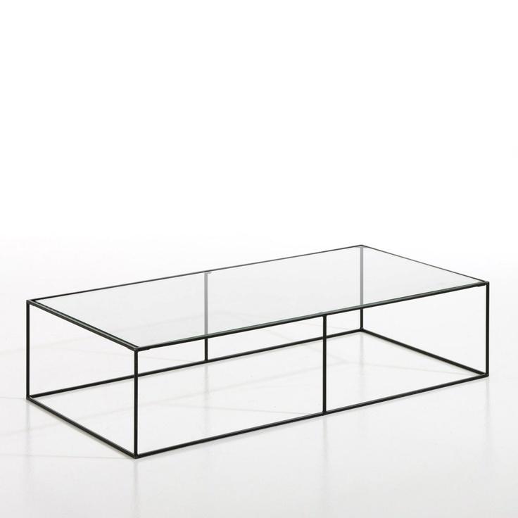 Table basse metal et verre yram