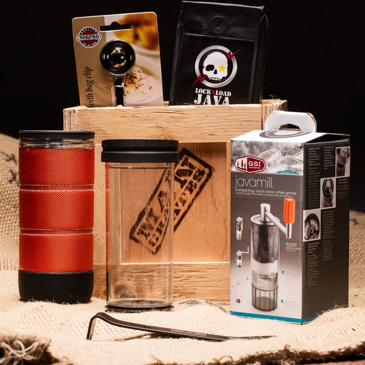 What a great Father's Day gift for my Hubs! Coffee gear for the caffeine fiend.