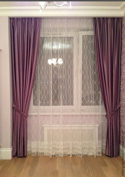Текстиль, ковры ручной работы. Ярмарка Мастеров - ручная работа. Купить Фиолетовые шторы в детскую. Handmade. Фиолетовый, шторы в детскую