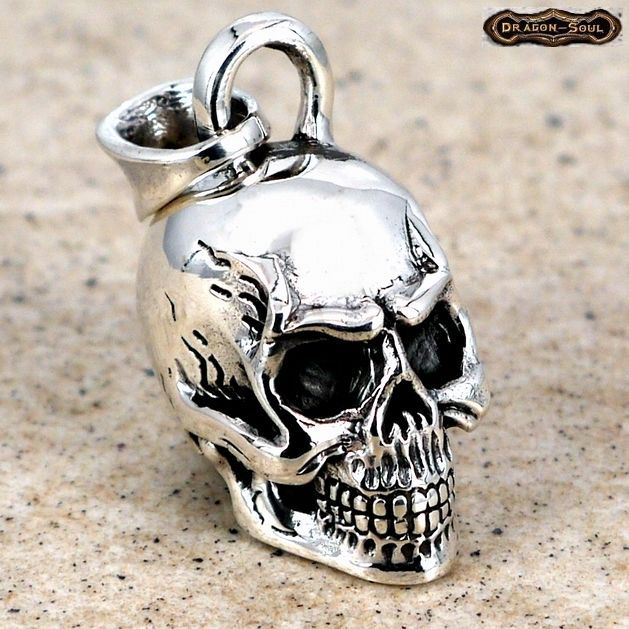 51 best dragonsouljewelry sterling silver pendants images on old school biker skull pendant sterling silver 34 x 12 mozeypictures Image collections