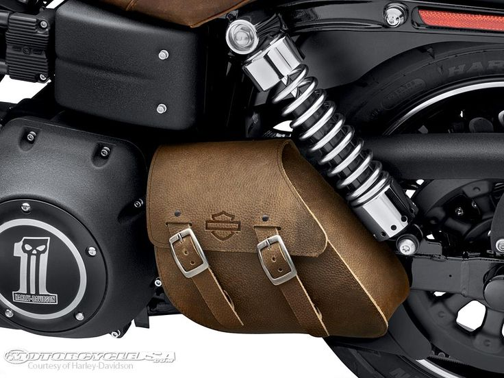 Brown Motorcycles | ... -looking single-sided swingarm bag for 2006-later Dyna motorcycles