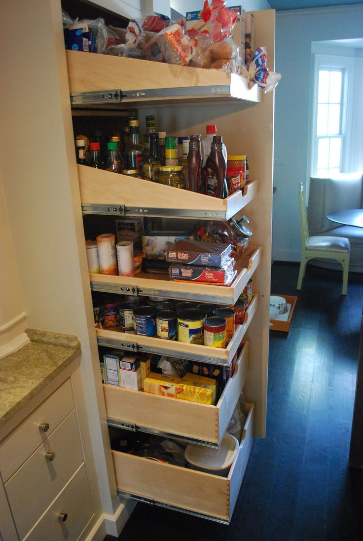 7 best images about pantry shelves on pinterest tv - Roll out shelving for pantry ...