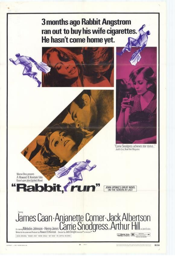 Rabbit, Run, starring James Caan, Anjanette Comer, Jack Albertson, Carrie Snodgress and Arthur Hill, 1970