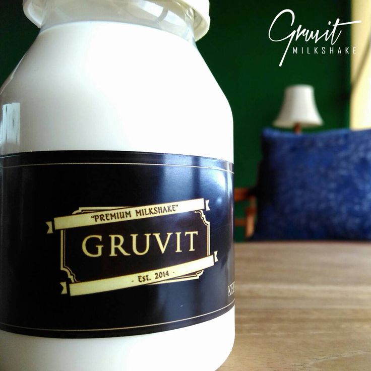 Daily dose of dairy from @gruvitmilkshake. Follow our Instagram, Twitter & Fb page @indohomemade for more Indonesian homemade food.