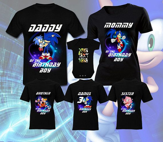 Sonic The Hedgehog Birthday Sonic Party Custom Sonic Shirts For Family Sonic Birthday Shirt Personalized Shirts Carbonbrushtechnology Co Za