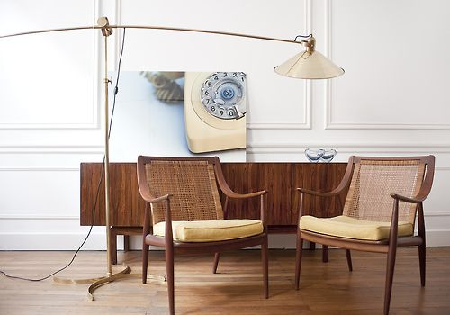 Ampersand House | Hvidt & Molgaard Armchairs as Seen on Mad Men