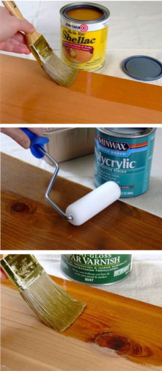 'What's the Difference Between Polyurethane, Varnish, Shellac and Lacquer?' (via DIY) http://www.bestcoasthandyman.com