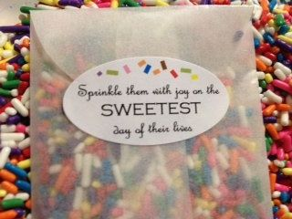 throw sprinkles at wedding | visit etsy com