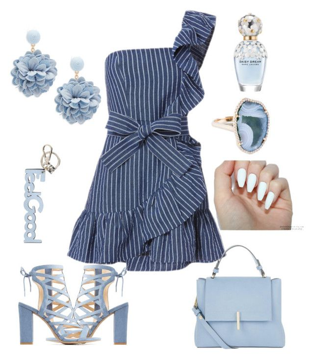 """light blue ☁⛅"" by nony4-5n on Polyvore featuring Alexis, Accessorize, Charlotte Russe, Natasha, Coccinelle and Marc Jacobs"