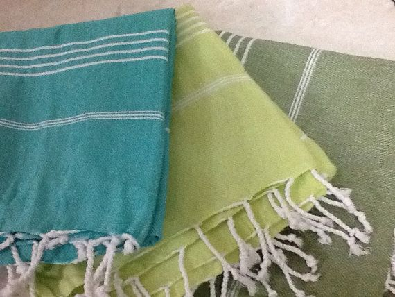 Set of 3 Pcs Turkish Towel  Bath Hammam Fouta Peshtemal by muzey, $39.45