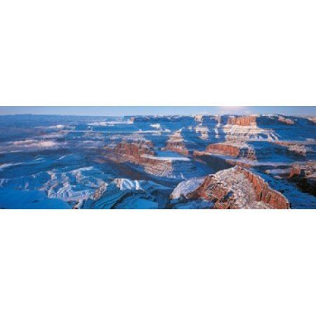Dead Horse Point State Park w Canyonlands National Park UT USA Canvas Art - Panoramic Images (36 x 12)