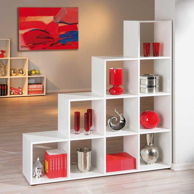 Raumtrenner Regal in Weiß Treppe Jetzt bestellen unter: https://moebel.ladendirekt.de/wohnzimmer/regale/raumteiler/?uid=b659c238-2ae1-5f84-866d-f0f1250c18bc&utm_source=pinterest&utm_medium=pin&utm_campaign=boards #esszimmerregal #stufenregal #wohnzimmerregal #regal #wohnzimmer #treppenregal #raumtrennw #esszimmer #raumteiler #raumtrenner #regale