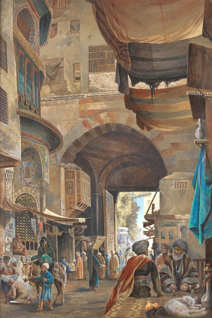 In the Bazaar, Constantinople, Charles Robertson