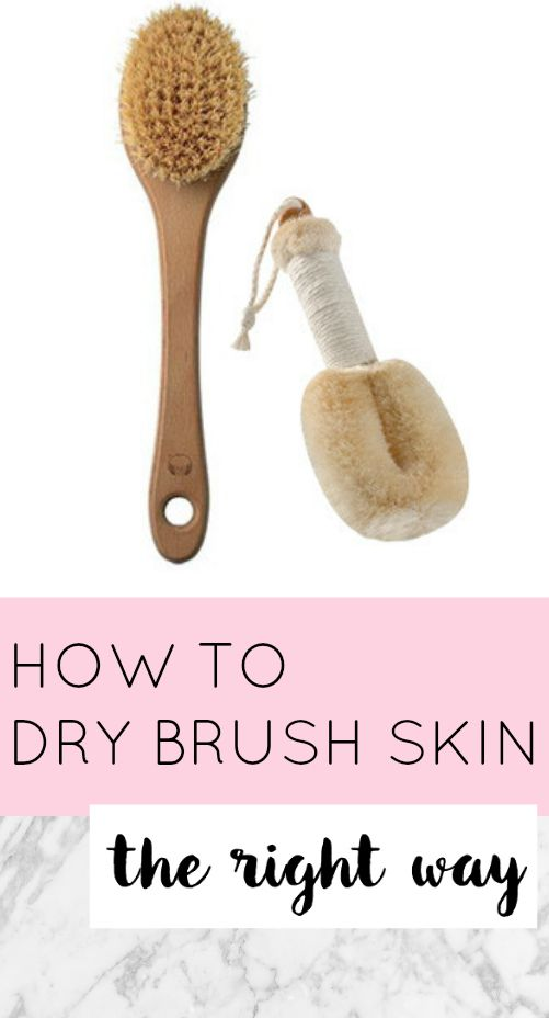 *THIS* is how to dry brush skin the right way. Firms skin, reduces cellulite, exfoliating.