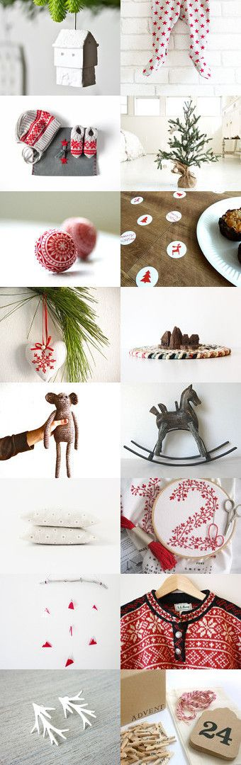 Simple, Scandinavian Christmas by Anne Schneider on Etsy--Pinned with TreasuryPin.com