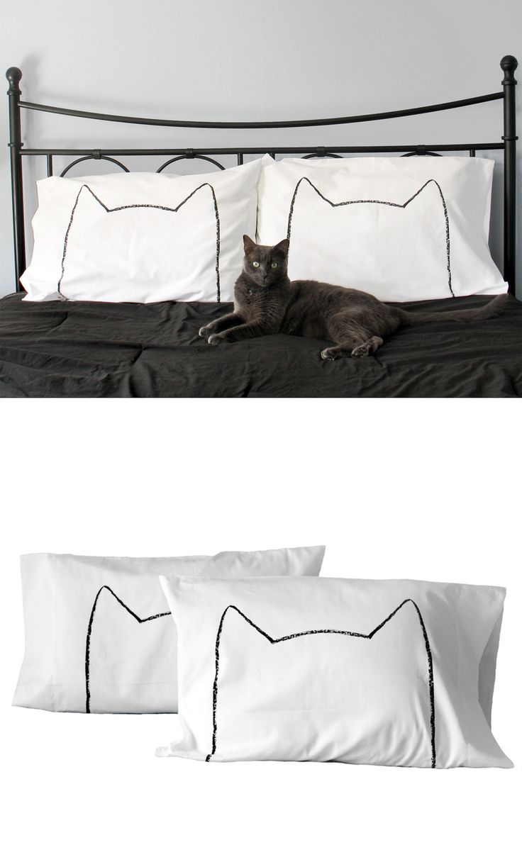 Cheap white pillowcases for crafts - Cat Nap Pillowcases Set Of 2