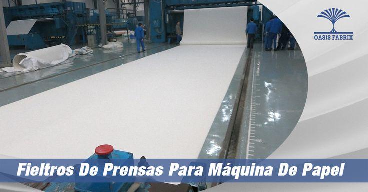 Fieltros de prensas para fabricación de papel